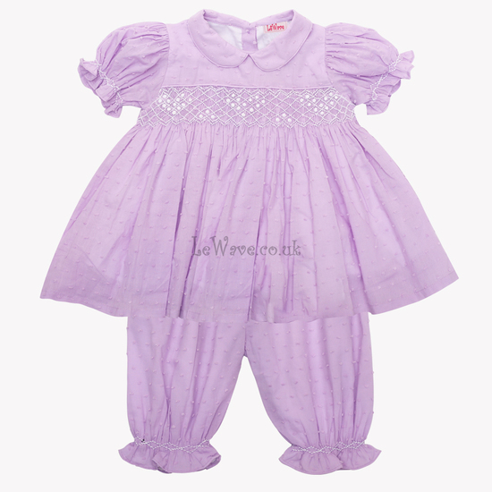Toddler girl smocked pajamas - LP 26C