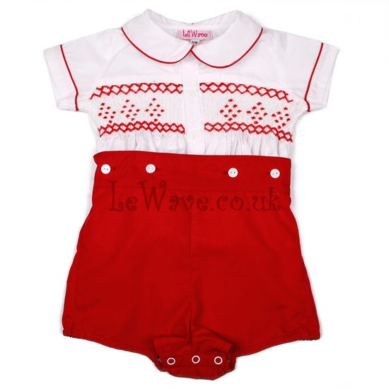 Red boy smocked outfit - LB 14