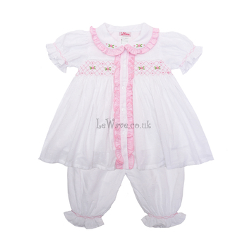 girl-smocked-white-pyjamas